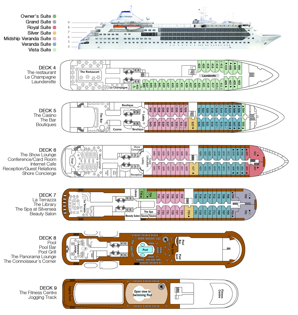 deck plan Silver Cloud